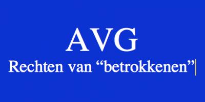 """AVG: de rechten van de """"betrokkenen"""""""